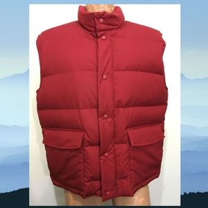 Cabela's L Red Premier Northern Goose Down Vest